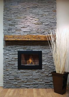 Faux Stone Panel and Natural Stone Siding for your home can be found at Toronto Stone Selex stores. Lightweight manufactured stone and natural stone veneer in Ottawa and Montreal. Stone Tile Fireplace, Faux Stone Fireplaces, Slate Fireplace, Home Fireplace, Fireplace Inserts, Fireplace Design, Fireplace Ideas, Faux Stone Electric Fireplace, Modern Fireplace Mantles