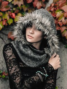 Wool Tweed & Faux Wolf Fur Into the Wild by DoTheExtraordinary