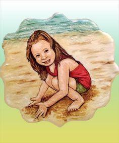 Este verano haz fotos a tus hijos y píntalas en una galleta. Será un recuerdo inolvidable. Sigue el tutorial de Los Dulces De KOLO y verás bonita te queda.