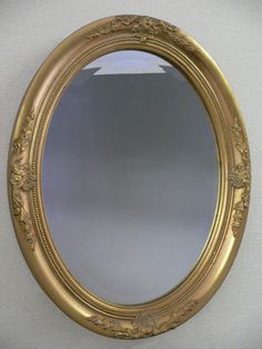 大感謝祭セール特別価格【P2】【RCP】【鏡・ミラー】アンティーク調ミラー(楕円)ゴールド【壁掛け】ANCIENTMIRROR10P22Nov13