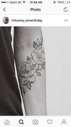 Floral forearm sleeve // flower for each member of my family