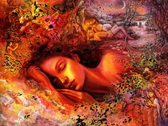 Josephine Wall - Psyches Dream - Love Greeting Card