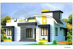 latest indian single storey house elevation designs single floor house house plans style in sq ft single floor design ideas wholesale House Outer Design, Single Floor House Design, House Front Design, House Design Photos, Small House Design, Floor Design, Home Design, Design Ideas, Bungalow Haus Design
