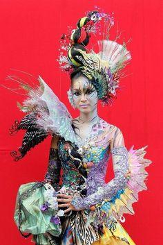 US Bodypainting Festival World Of Wearable Art, Body Painting Festival, Sea Costume, World Bodypainting Festival, Mardi Gras Costumes, Human Art, Woman Painting, Painting Art, Hair Art