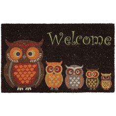 Owls Coir Doormat Pinned by www.myowlbarn.com