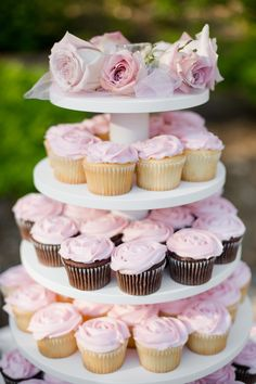 my wedding cupcakes from walmart bakery! they looked great and tasted delicous! best part was I got 120 for $58 instead of $495 from a high end bakery!