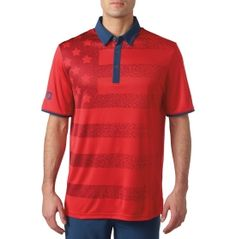 Mens USA Army Star and Bar Embroidered Knit Striped Short Sleeve Polo Shirts