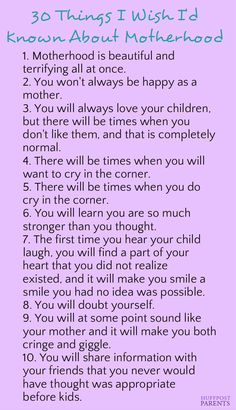 These are all so true about motherhood. Click to see the rest of the list!