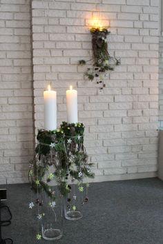 Weiß und grün . #advent #deko