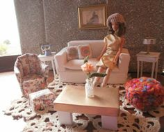 DIY Barbie Furniture...love this blog! makes me want to go buy some Barbies for me! So darling! I like it better than store bought mass produced stuff...it's original:)