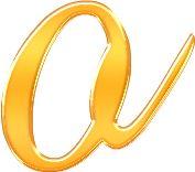 Alfabeto Decorativo: Alfabeto - Ouro - PNG