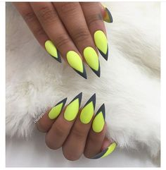 Calling all #neon lovers  courtesy of @chaunlegend#DidYouKnow you can use a bobby pin to create dots on your nails to make some awesome nail art! #notd #nails #mani #lovenails