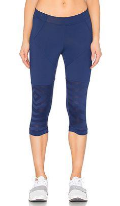 a1328cb445301 Shop for adidas by Stella McCartney Studio Zebra 3 4 Legging in Dark Blue at