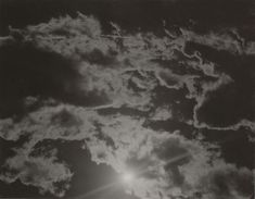 I've always loved taking photos of the sky. Here is one of Alfred Stieglitz photos: Equivalents (1923). The way the sun is able to be shown in this way, is something that many people may not have been before. We are always told not to look at the sun, but this is what you might capture in photos.