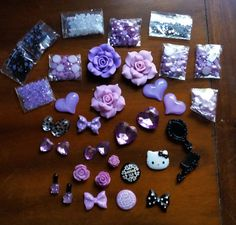HUGE LOT DIY Hello Kitty Bling Cell Phone Case Flat back Cabochons Deco Kit