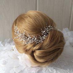 Largo pelo cepa vid de pelo nupcial vid de pelo de la boda