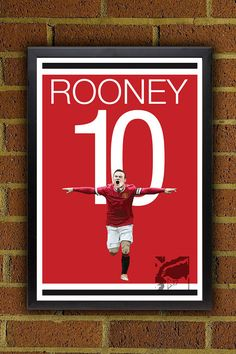 Manchester United Rooney Poster   Wayne Rooney by Graphics17