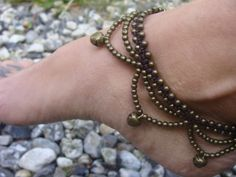 Indian anklet gypsy anklet Brass Bronze anklet by Oniropolis