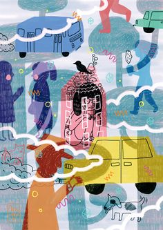 Social Anxiety by Gizem Vural, via Behance