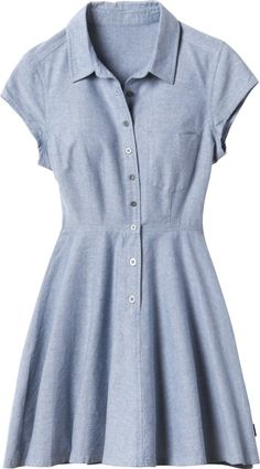 The Ashley Smith signature Dream dress is a flirty chambray dress inspired by 1970's Texas