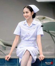 Beauty Uniforms, Nursing Clogs, Vintage Nurse, Sexy Nurse, Asian Woman, Ballet Skirt, Costumes, Pretty, Cute