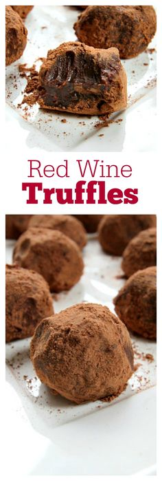 Truffles Red Wine Truffles Recipe: I made mine with Pinot Noir!Red Wine Truffles Recipe: I made mine with Pinot Noir! Chocolates, Candy Recipes, Wine Recipes, Dessert Recipes, Dessert Party, Party Desserts, Chocolate Wine, Chocolate Truffles, Chocolate Brownies