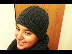Crochet gorro de hombre o adulto reversible. Con Ruby Stedman. - YouTube