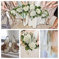 #hydrangeas bridal bouquet, #bridal shoes, #wedding veil http://www.postandbeamco.com/ Laura Marie Anthony photography