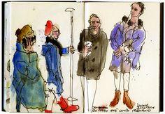 desenhador do quotidiano: Desenhar no Metro
