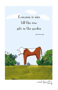 red tractor cow in the garden Red Tractor, Tractors, Irish Proverbs, Cow, Agriculture, Prints, Cartoons, Comics, Awesome