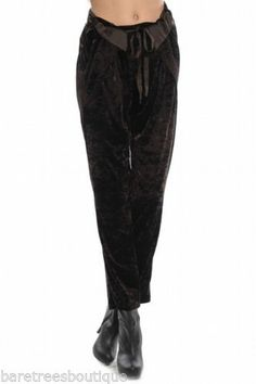 Ryu Boutique Chocolate Brown Velvet Cocktail Party Pants Size s M L | eBay