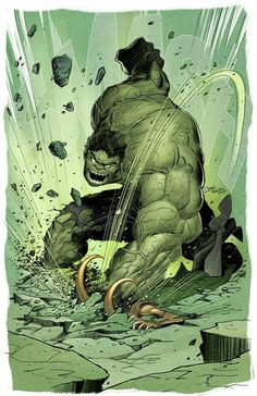Avengers // Loki and Hulk fan art
