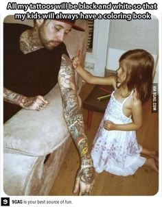 That's super cute! Also, bold will hold, and color fades faster than black. More reasons to get black tattoos.