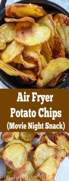 Air fryer potato chips, easy, quick and guilt free; the perfect movie night snack. Air fryer potato chips, easy, quick and guilt free; the perfect movie night snack. Air Fryer Recipes Breakfast, Air Fryer Oven Recipes, Air Frier Recipes, Air Fryer Dinner Recipes, Air Fryer Potato Chips, Air Fryer Chips, Low Carb Paleo, Movie Night Snacks, Movie Nights