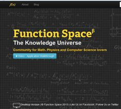 Maths, Physics & Computer Science Made Easy with Function Space