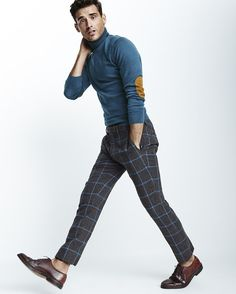 Elbow pads + plaid pants are never a bad idea.