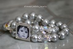 Wedding Bracelet Brides Bracelet Photo by KlidonasPhotoJewelry, $65.00 - I'd use a photo of my sister <3