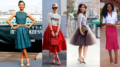 outfits falda color morada - Buscar con Google