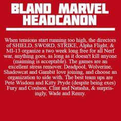 Bland Marvel Headcanons: