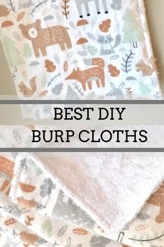 diy baby DIY Baby Burp Cloth Tutorial - Sew Much to Create. Best DIY Baby Shower gift is DIY Burp cloths. Perfect gift for any expectant mother! In this tutorial I use Woodland Themed Nursery Flannel fabric and Terry Cloth. Baby Sewing Projects, Sewing Projects For Beginners, Sewing Tips, Sewing Hacks, Baby Sewing Tutorials, Sewing Crafts, Diy Baby Gifts, Baby Crafts, Diy Baby Shower Gift
