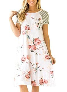 HOTAPEI Women's F... Save 10% on Anything you Buy! Coupon Code: LOVE10   http://www.sainaluv.com/products/hotapei-womens-floral-print-casual-short-sleeve-a-line-loose-t-shirt-dresses-knee-length?utm_campaign=social_autopilot&utm_source=pin&utm_medium=pin