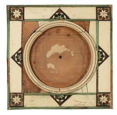 Tre piccole cornici intarsiate in avorio e altre essenze, XVII secolo