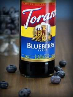 Torani Blueberry Syrup taste just like that - blueberries! It goes perfectly in smoothies and Italian sodas.