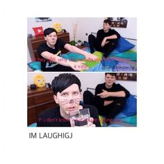 Dana face in the second pic thooo Phan Memes, Phan Is Real, Dan And Phill, Phil 3, Danisnotonfire And Amazingphil, Cat Whiskers, Phil Lester, Dan Howell, Rats