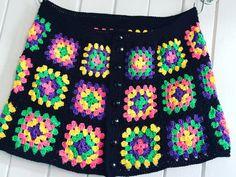 Una falda de ganchillo de abuela línea Plaza