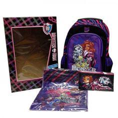 Set troler Monster High 6 Piese Monster High, Disney, Bags, Character, Handbags, Bag, Disney Art, Totes, Hand Bags