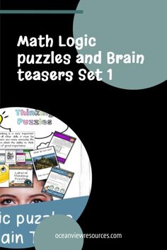 Math Logic Puzzles and Brain teasers are a great way to start a lesson or use as a brain break. Have them on Interactive Whiteboard displayed as a classroom entry activity.