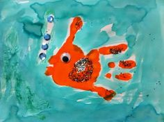 Handprint fish.