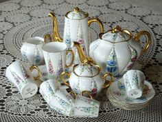sold out / Shelley Tea set ,coffee set  Signed In Gold To Base - J.B.