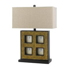 Cal Lighting BO-2089TB Table Lamp with Pictures Frames - BO-2089TB